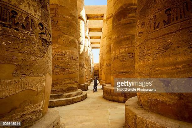 Temple of Karnak, Great Hypostyle Hall, Luxor, Egypt.