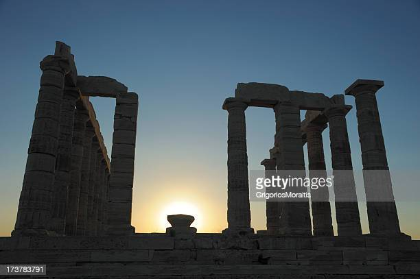 Temple of Poseidon - Backlit