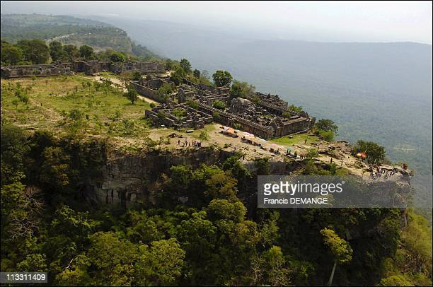 Temple Of Preah Vihear Cambodia To Be Inscribed On Unesco World Heritage List In 2006 On May 5Th 2005 In Cambodia Here Aerial View Of The Rocky...