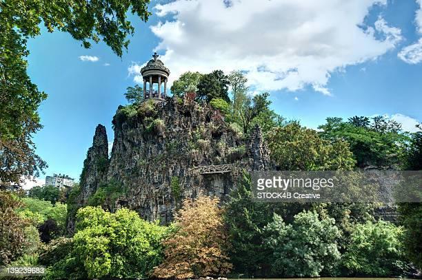Temple of Sybil in the Parc de Buttes Chaumont, Paris, France