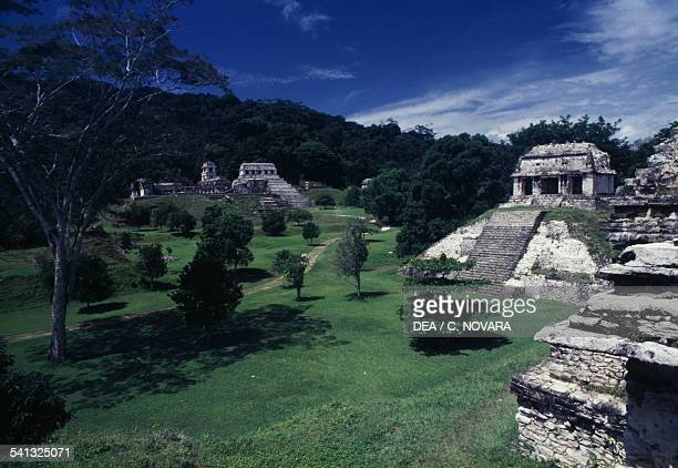 Temple of the Count archaeological site of Palenque Chiapas Mexico Mayan civilisation 7th8th century