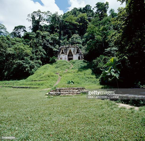Temple of the Foliated Cross Palenque Chiapas Mexico Mayan civilisation 7th8th century