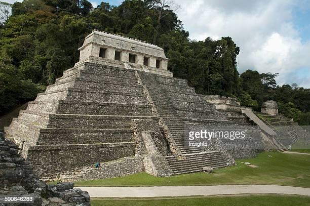 Temple Of The Inscriptions Palenque Chiapas Mexico