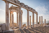 Built on a conical hill rising above the surrounding valley, Pergamum (or Pergamon) was an important capital city in ancient times (dates back to 11th century).