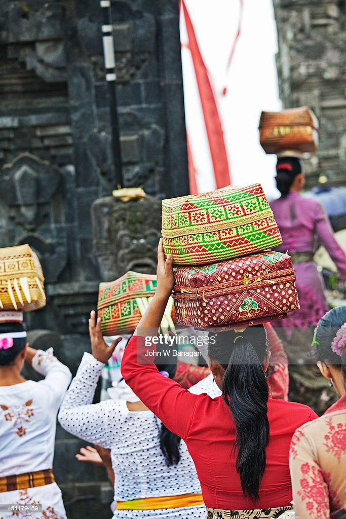 Temple offerings, Ubud, Bali : Stock-Foto