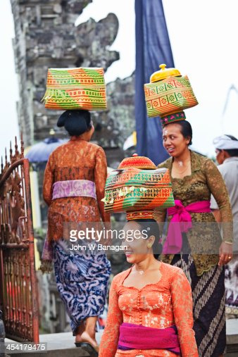 Temple offerings, Ubud, Bali : Stockfoto
