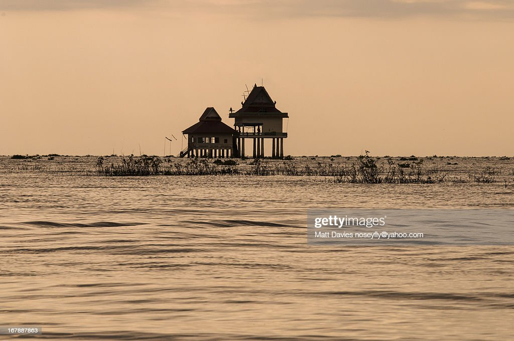 A Temple On The Water : Stock Photo