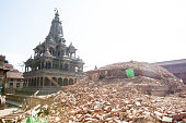 APRIL 27 A temple razed to the ground in Patan Durbar Square