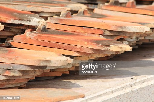 Temple roof tiles : Stock Photo