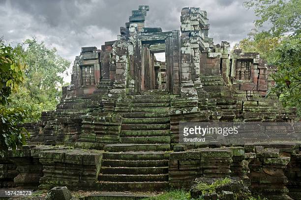 Temple ruins near Angkor Wat in Cambodia