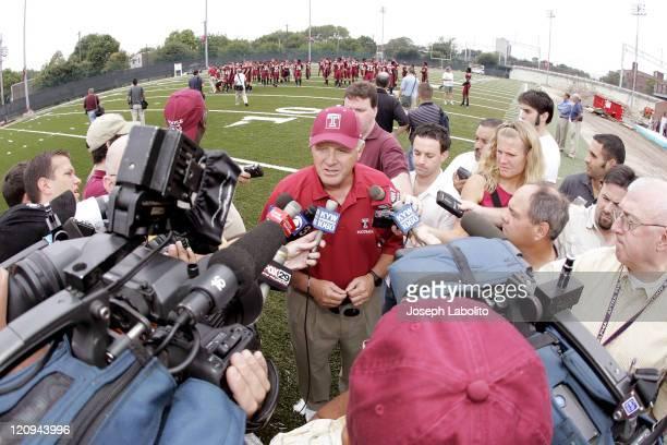 Temple University head Football coach Bobby Walace meets the press at Temple Football Media Day on the campus of Temple University on August 24 2004
