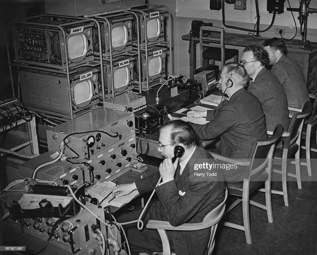 A temporary main central control is set up in Broadcasting House to deal with televising the Coronation 28th May 1953