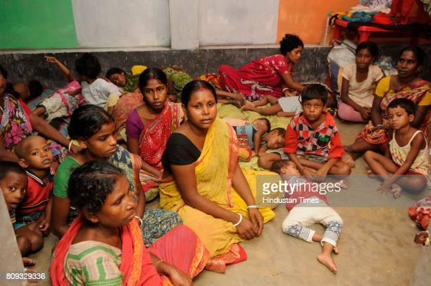 Temporary relief camps run by locals for the people affected by communal violence during protests over an objectionable social media post on July 5...
