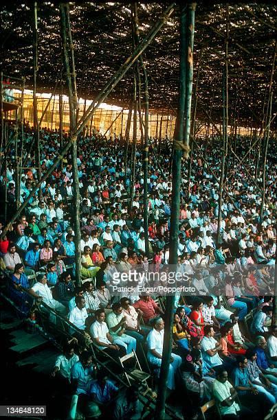 Temporary stand India v England 3rd Test Madras Jan 197677