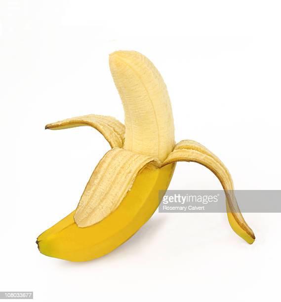 Tempting ripe banana ready to eat