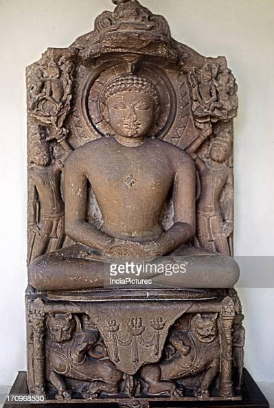 Tempting the Buddha in meditation Mathura Museum Mathura Uttar Pradesh India