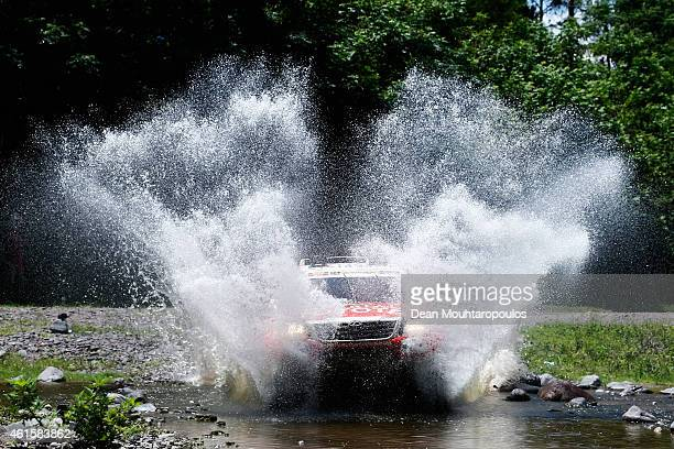 Ten Brinke Bernhard of the Netherlands and Tom Colsoul of Belgium for Toyota Overdrive Hilux compete during Stage 11 on day 12 of the Dakar Rally...