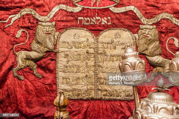 Ten Commandments embroidered