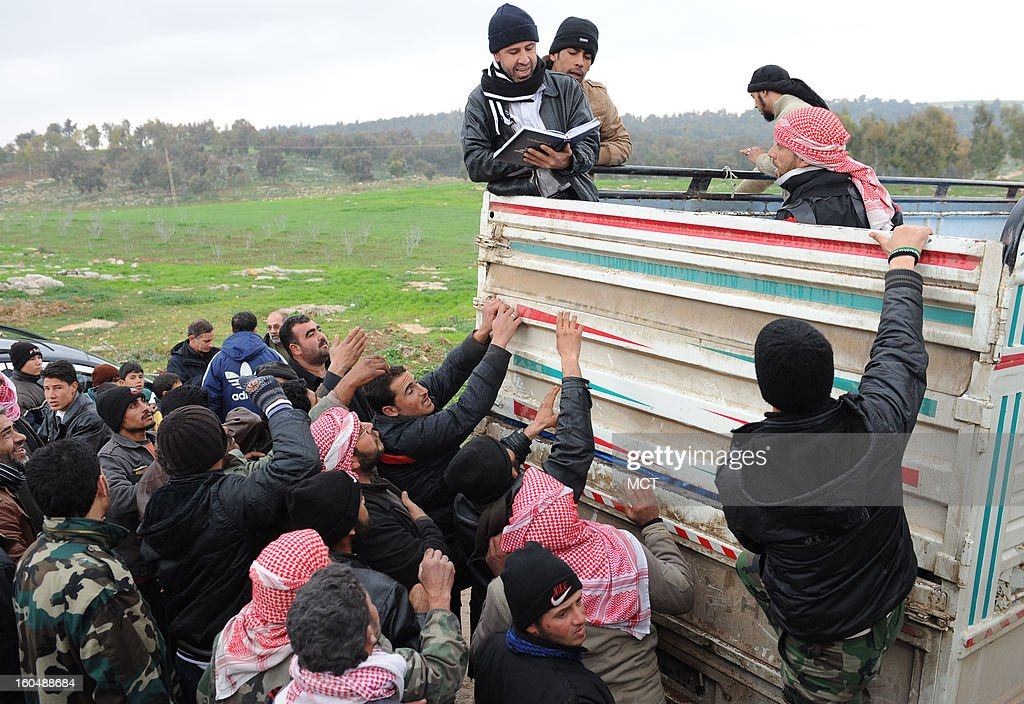 Ten days after more than 100,000 people fled a Syrian government bombardment of two towns in north Hama county, the Free Syrian Army's Farouk Brigade obtained a trucked of small tents to distribute to people still living in the open or in caves near al Sahriah.