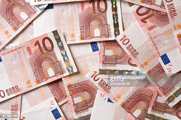 Ten euro bills