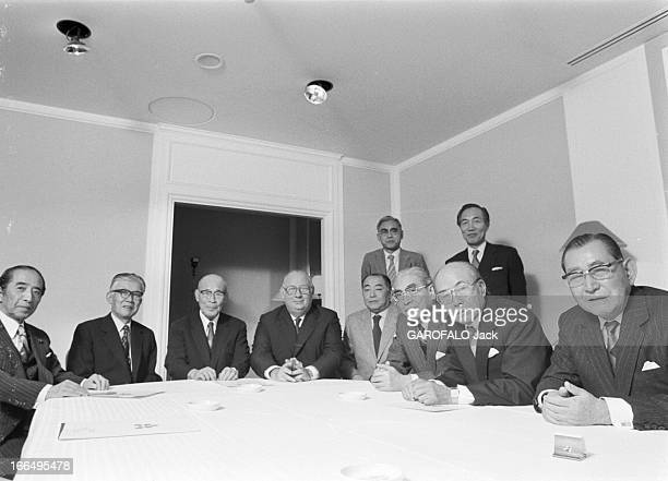 Ten Representatives Of Japanese Banks And Industries Received In Paris Paris 7 décembre 1980 Dix représentants des banques et industries japonaises...