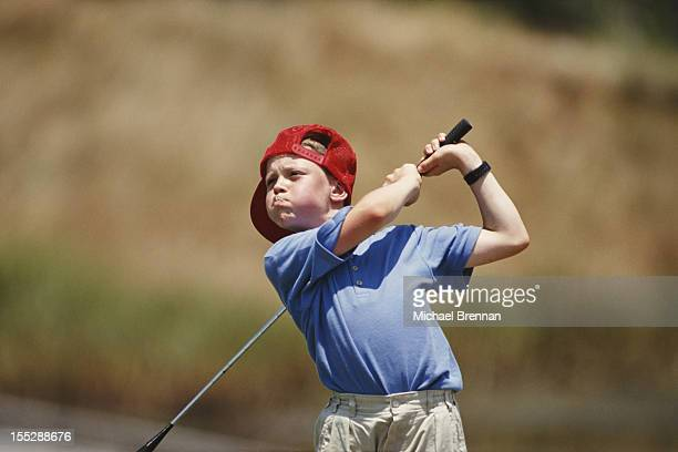 Ten yearold british golfer Lee Nash on the Ryder Cup course at Kiawah Island South Carolina July 1991