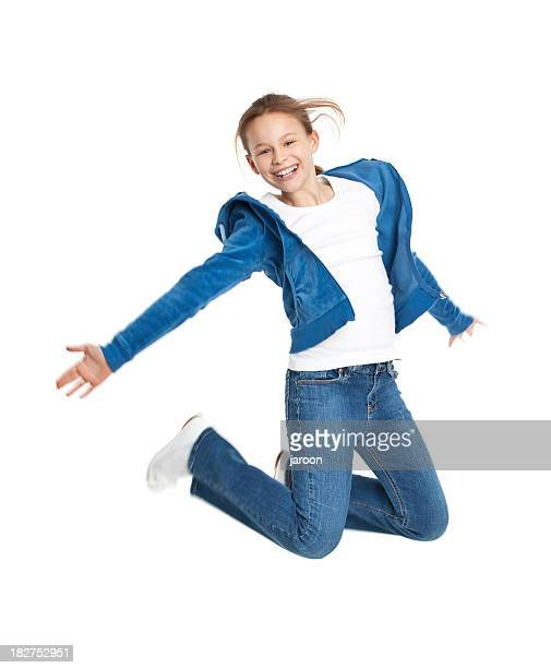Dix ans, fille de saut
