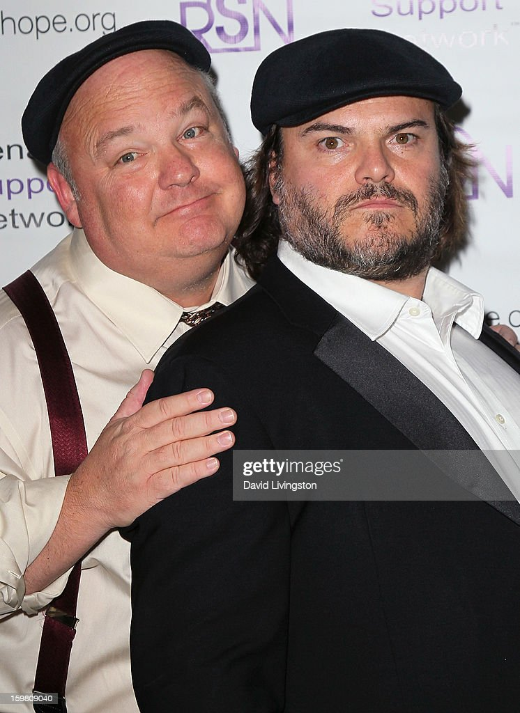 Tenacious D members musician <a gi-track='captionPersonalityLinkClicked' href=/galleries/search?phrase=Kyle+Gass&family=editorial&specificpeople=171597 ng-click='$event.stopPropagation()'>Kyle Gass</a> (L) and actor <a gi-track='captionPersonalityLinkClicked' href=/galleries/search?phrase=Jack+Black&family=editorial&specificpeople=171453 ng-click='$event.stopPropagation()'>Jack Black</a> attend the 14th Annual RSN's Renal Teen Prom at Notre Dame High School on January 20, 2013 in Sherman Oaks, California.