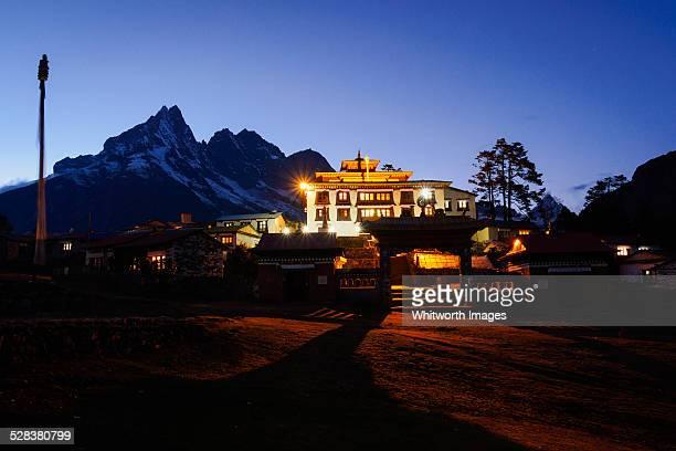 Tengboche Buddhist Monastery by night, Nepal