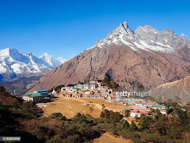 Tengboche village in Khumbu Valley, Nepal