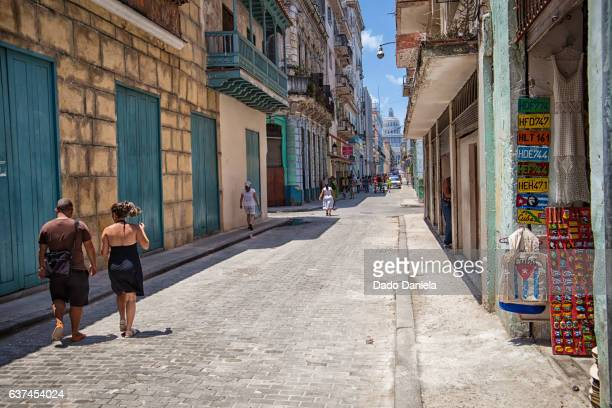 Teniente Ray street in Old Havana