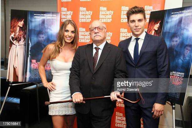 Tenille Houston Paul Schrader and Nolan Gerard Funk attend a screening of 'The Canyon' presented by Film Society of Lincoln Center at The Film...