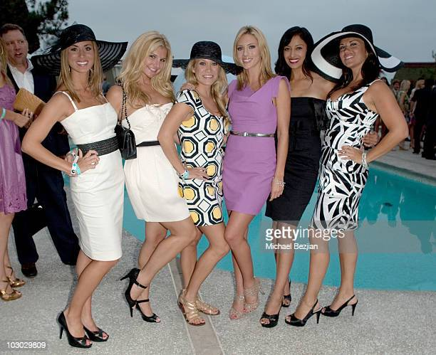 Tenley Molzahn Ashley Hunt a guest Rozlyn Papa a guest and Velecia Salmon attend the L'Auberge Del Mar Opening Day After Party at L'Auberge Del Mar...