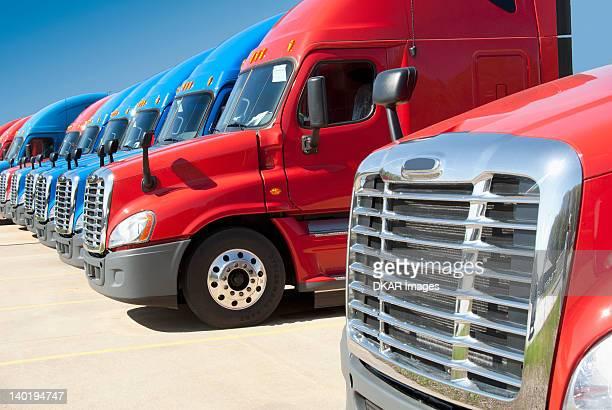 USA, Tennessee, Jackson, New semi trucks