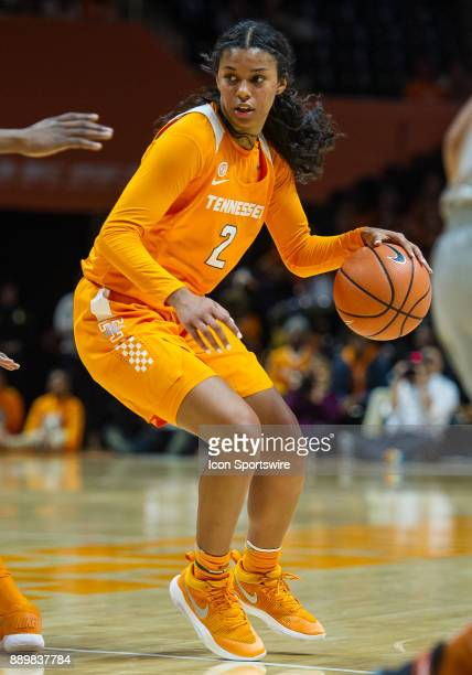 Tennessee Lady Volunteers guard Evina Westbrook driving to the basket during a game between the Texas Longhorns and Tennessee Lady Volunteers on...