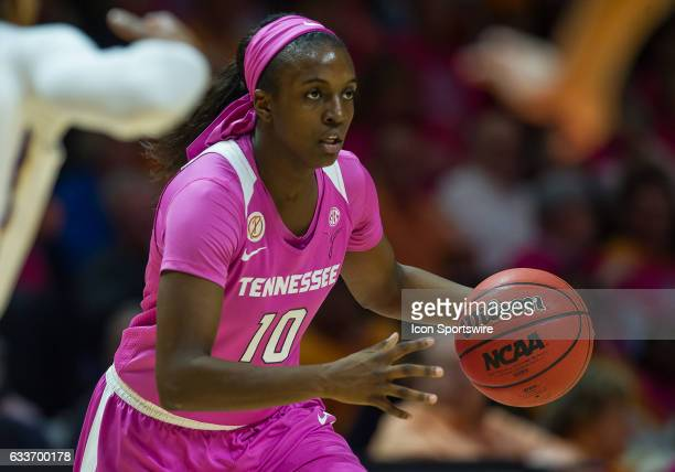 Tennessee Lady Volunteers guard Meme Jackson brings the ball up court during a game between the LSU Tigers and Tennessee Lady Volunteers on February...