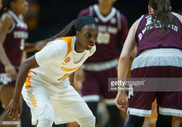 Tennessee Lady Volunteers guard Meme Jackson playing defense on Texas AM Aggies guard Danni Williams during a game between the Texas AM Aggies and...
