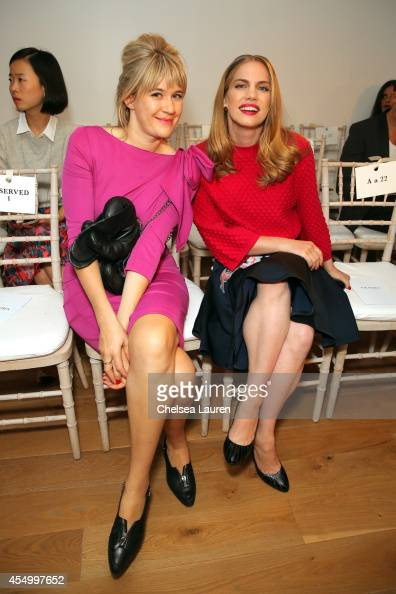 Tennessee Thomas and Anna Chlumsky attend the Zac Posen fashion show during MercedesBenz Fashion Week Spring 2015 on September 8 2014 in New York City