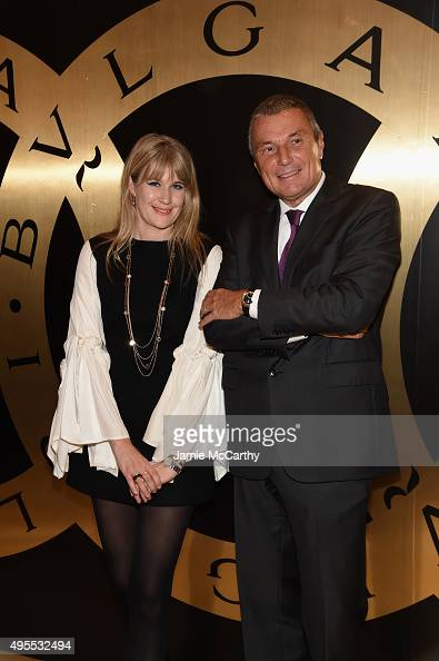 DJ Tennessee Thomas and BVLGARI CEO JeanChristophe Babin attend BVLGARI Celebration Of 40 Years Of BVLGARIBVLGARI at Bulgari Fifth Avenue on November...