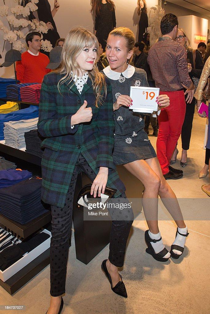 Tennessee Thomas and Natalie Joos attend the Joe Fresh Soho opening party at Joe Fresh Soho on October 15 2013 in New York City