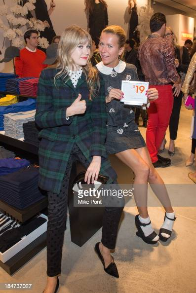 Tennessee Thomas and Natalie Joos attend the Joe Fresh Soho opening party at Joe Fresh Soho on October 15 2013 in New York City