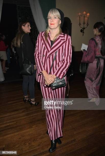 Tennessee Thomas at HM x ERDEM Runway Show Party at The Ebell Club of Los Angeles on October 18 2017 in Los Angeles California