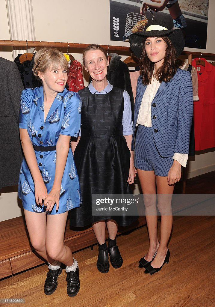 Tennessee Thomas, Designer Orla Kiely, and Alexa Chung attend the Orla Kiely for Target Preview Party on July 23, 2013 in New York City.