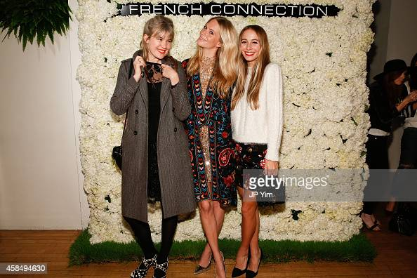 Tennessee Thomas Poppy Delevingne and Harley VieraNewton attend the French Connection Spring/Summer 2015 Collection Preview Party at Michelson Studio...