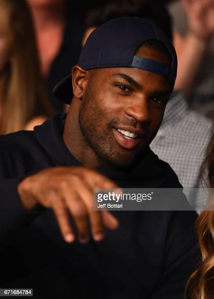 Tennessee Titans running back Demarco Murray is seen in attendance during the UFC Fight Night event at Bridgestone Arena on April 22 2017 in...