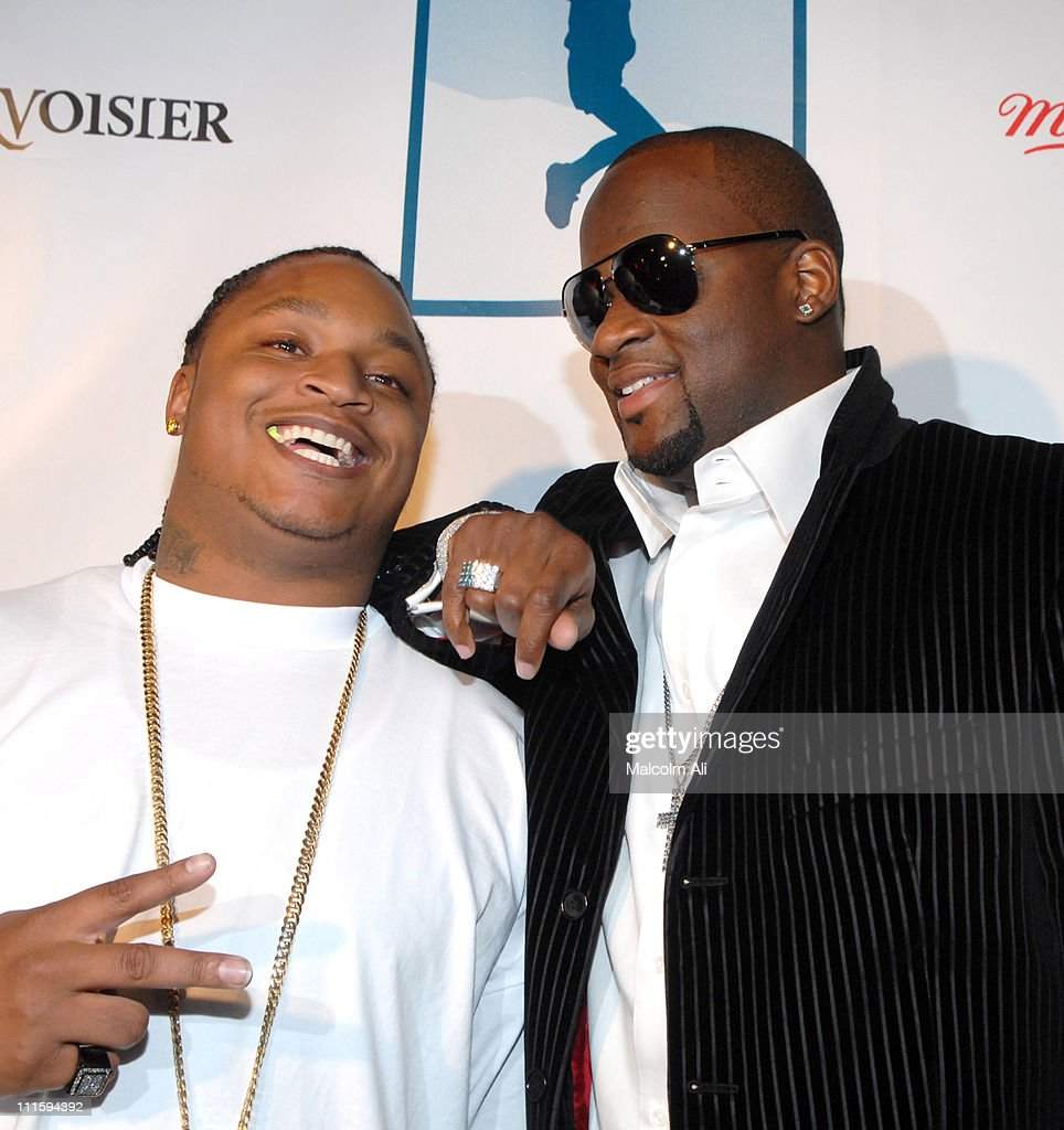 Tennessee Titans running back LenDale White and quarterback Vince Young