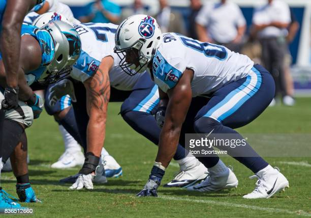 Tennessee Titans tight end Jonnu Smith lines up on the line of scrimmage during the preseason NFL game between the Tennessee Titans and Carolina...