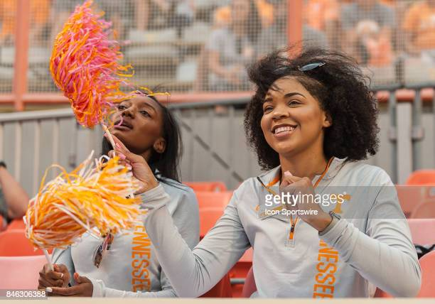 Tennessee Volunteers fans cheer during a game between the Indiana State Sycamores and Tennessee Volunteers on September 9 at Neyland Stadium in...