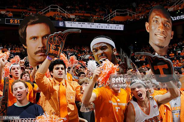 Tennessee Volunteers fans cheer during the game against the Connecticut Huskies at ThompsonBoling Arena on January 21 2012 in Knoxville Tennessee...