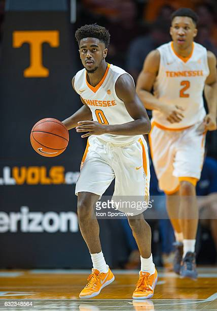 Tennessee Volunteers guard Jordan Bone brings the ball up court during a game between the Mississippi State Bulldogs and Tennessee Volunteers on...